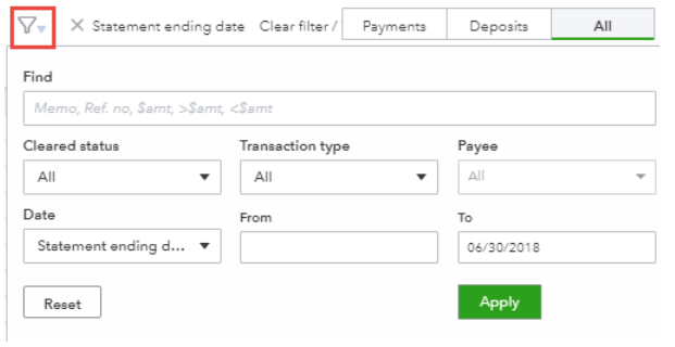 Bank reconciliation with QuickBooks