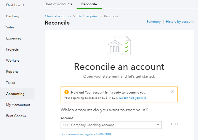 Bank Reconciliation in QuickBooks