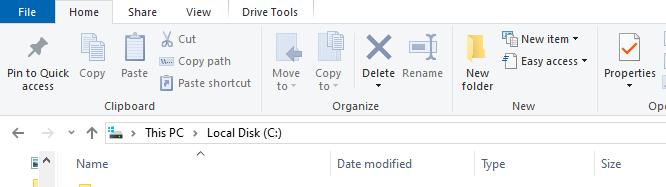 Move company file location