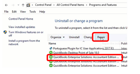 Repair QuickBooks