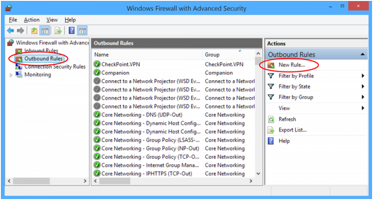 QBCFMonitorService update your firewall settings