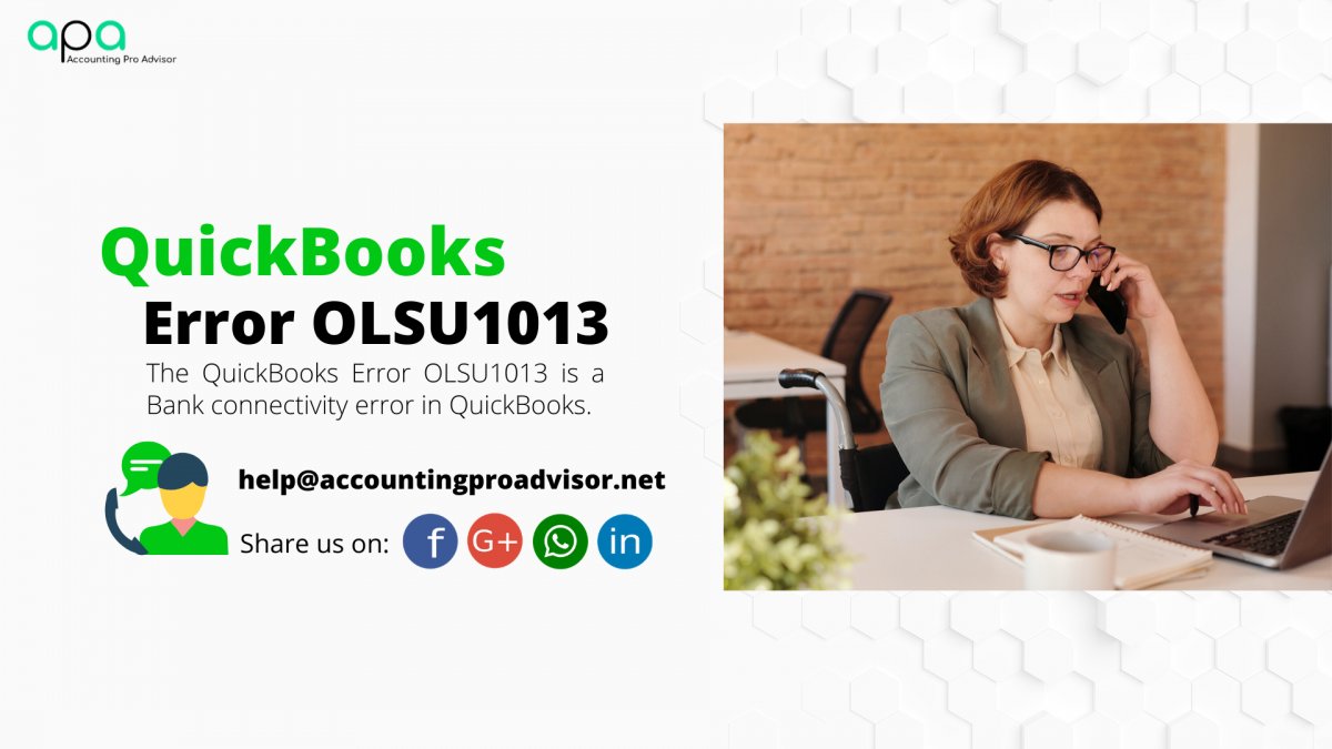 QuickBooks Error OLSU1013