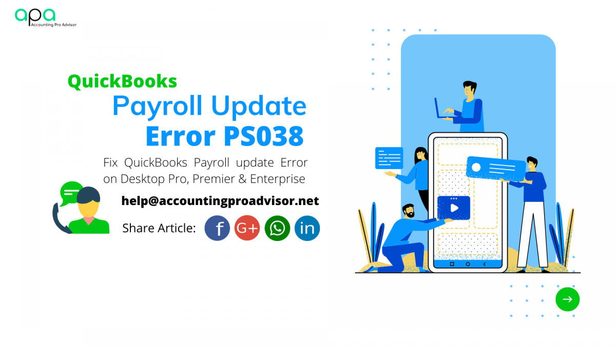 QuickBooks Payroll update error PS038
