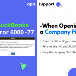 fix quickbooks error 6000 77 to open qb company file