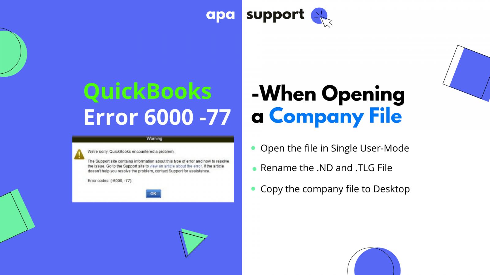 QuickBooks Error 6000-77