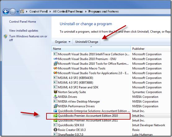 Repair QB installation files